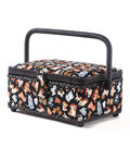 Sewing Basket Small Rectangle-Black Dog