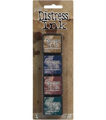 Tim Holtz Distress Mini Ink Pads 4/Pkg-Kit 12