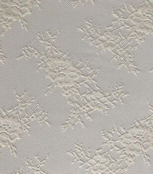 Save The Date Eyelet Lace Fabric 57''-Eggnog