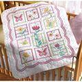 Bucilla Sophie Crib Cover Stamped Cross Stitch Kit-34\u0022x43\u0022