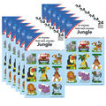 Carson Dellosa Jungle Stickers 12 Packs