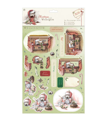 Docrafts Christmas With Wellington A4 Decoupage Pack-Snowman