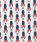 Patriotic Fabric-Patriotic Ribbon White