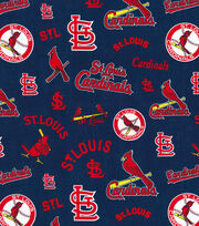 Cooperstown Saint Louis Cardinals Cotton Fabric, , hi-res