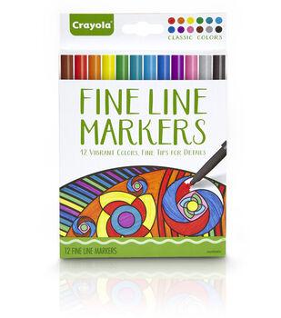Crayola Fine Line Marker Set 12/Pkg-Classic