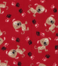 Blizzard Fleece Fabric -Spotted Pups