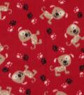 Blizzard Fleece Fabric 59\u0027\u0027-Spotted Pups
