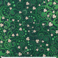 St. Patrick\u0027s Day Cotton Fabric-Scrolls with Foil Clovers