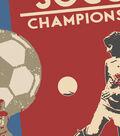 Snuggle Flannel Fabric 42\u0027\u0027-Red Soccer
