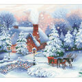 Christmas Eve Counted Cross Stitch Kit 14 Count
