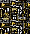 University of Iowa Hawkeyes Cotton Fabric -Glitter