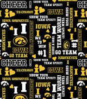 "University of Iowa Hawkeyes Cotton Fabric 44""-Glitter, , hi-res"