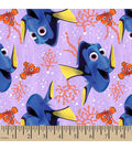 Disney Finding Dory Cotton Fabric -Seaweed