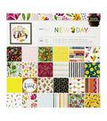 American Crafts Dear Lizzy New Day 12\u0027\u0027x12\u0027\u0027 Single-sided Paper Pad