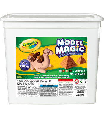 Crayola Model Magic Naturals Bucket 2lb Assortment