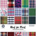 Colorbok Designer Single-Sided Paper 12\u0022X12\u0022-Mad For Plaid, 25 Designs