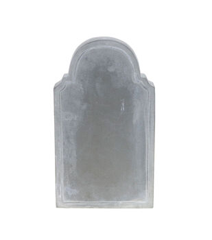 Maker's Halloween Craft 7''x4'' Cement Tombstone-Gray