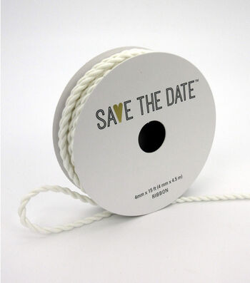 Save the Date 4mm x 15ft Cord-White