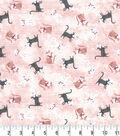 Premium Prints Cotton Fabric 43\u0022-Tossed Parisian Cats