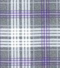 Luxe Flannel Fabric 42\u0027\u0027-Madison Purple Heather Plaids