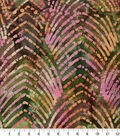 Shirting Cotton Fabric 44\u0022-Olive & Pink Arches