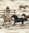 Fleece No Sew Throw 72\u0022-Horses and Fences