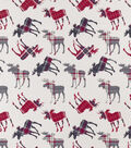 Snuggle Flannel Fabric-Patterened Trap Moose Tossed