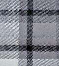 Plaiditudes Brushed Cotton Fabric 44\u0027\u0027-Ivory, Gray & Black Grid Check