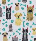 Snuggle Flannel Fabric 42\u0027\u0027-Sitting Pretty Pups