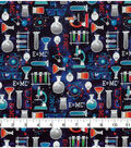 Novelty Cotton Fabric 43\u0022-Science On Galaxy