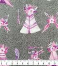 Specialty Luxe Fleece Fabric 59\u0022-Teepees on Gray