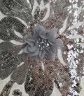 Gianna Sequins Embroidery on Mesh Fabric 56\u0027\u0027