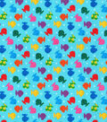 Novelty Cotton Fabric 44\u0027\u0027-Rainbow Tiny Fish