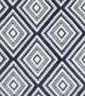 Specialty Luxe Fleece Fabric 59\u0022-Navy & White Diamond