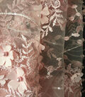 Gianna All Over 3D Floral Embroidered Fabric 55\u0027\u0027