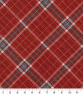 Snuggle Flannel Fabric 42\u0027\u0027-Red Riley Plaids