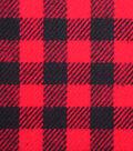 Plaiditudes Brushed Cotton Apparel Fabric 44\u0027\u0027-Red & Black Gingham Plaid