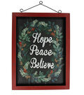 Maker\u0027s Holiday Christmas Wall Decor-Hope, Peace & Believe