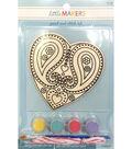 Little Makers Paint Stitch Kit-Heart