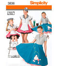 Simplicity Pattern 3836-Child & Girl 50\u0027s Girl Costumes