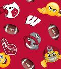 University of Wisconsin Badgers Fleece Fabric -Emoji
