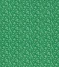 Keepsake Calico Cotton Fabric-Tossed Flowers on Green