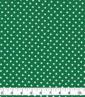 Keepsake Calico Cotton Fabric-Bold Crosses on Green