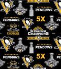Pittsburgh Penguins Fleece Fabric -Stanley Cup
