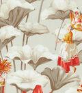 P/K Lifestyles Upholstery Fabric 54\u0027\u0027-Cinnabar Lotus Dreams
