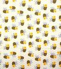 Novelty Cotton Fabric-Happy Bees
