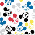 Disney Mickey Mouse Flannel Fabric-Heads