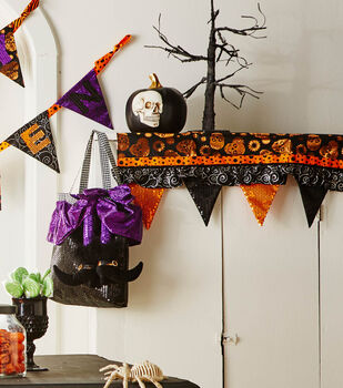 How To  Make A Halloween Make it your Own Mantel Scarf