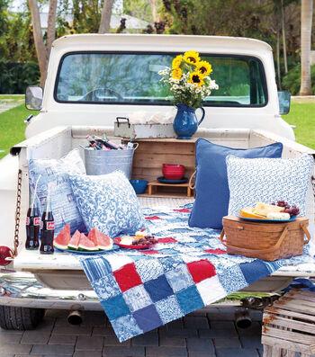 Patriotic Rag Picnic Blanket