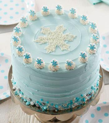 How To Make A Winter Wonderland Snowflake Cake